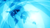 Abstract blue wavy tech video animation video