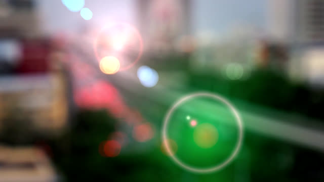Abstract bokeh cityscape background video