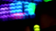 Abstract Bokeh Lights on Carnival Ride video