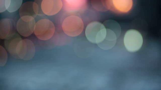 Abstract bokeh particles light floating for festival theme background video