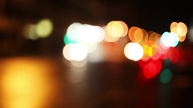 Abstract car and street lights video