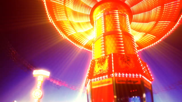 Abstract Carousel At Night video