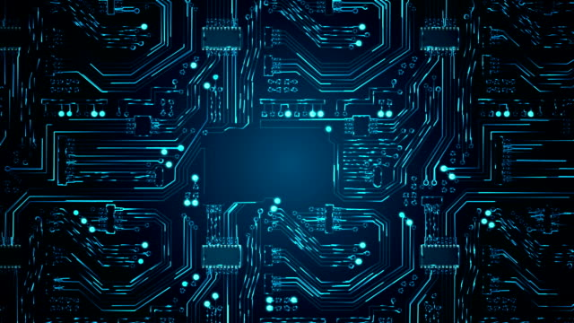 Abstract Circuit Board Background video