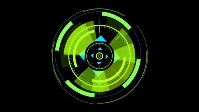 abstract circular elements video