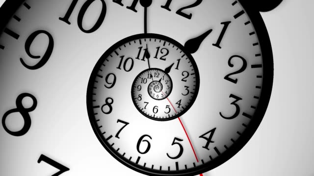 Abstract Clock video