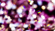 Abstract color bokeh circles background in violet color, loop ready video