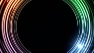 Abstract colorful rings HD video