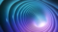 Abstract colorful tunnel background video