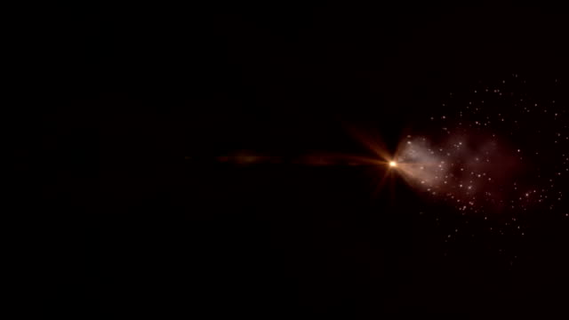 abstract comet in space video