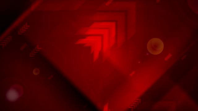 Abstract dark red tech futuristic arrows video animation video