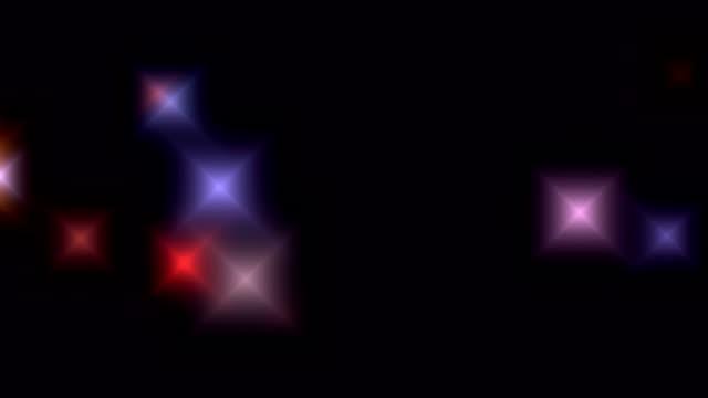 Abstract defocused and focused bokeh video