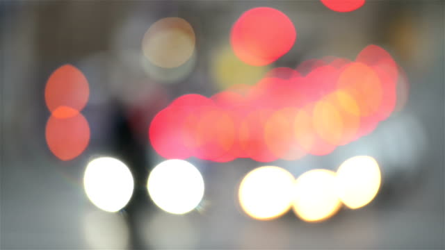 Abstract defocused city lights video