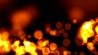 Abstract defocused glowing festive bokeh video
