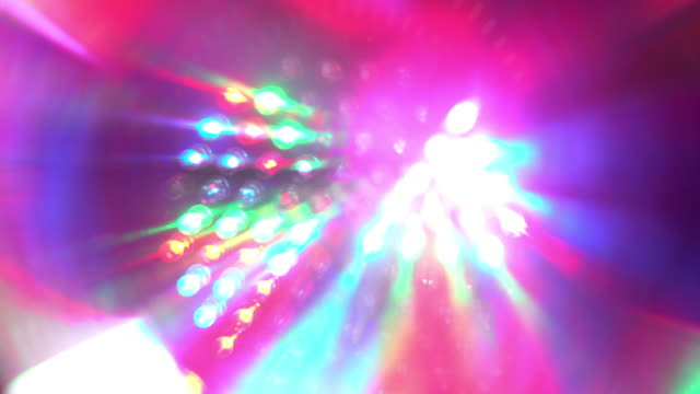 Abstract Disco lights strobes video