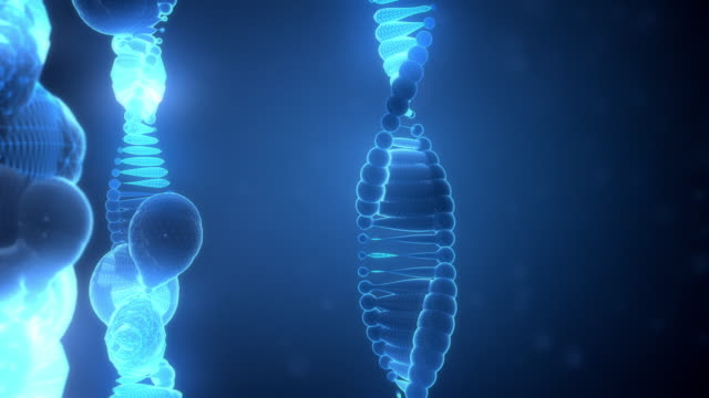 Abstract DNA Strings on Blue Background video