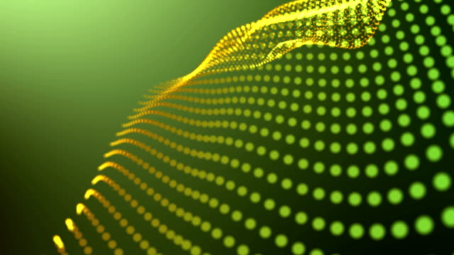 Abstract Dots Loop Light Green Background 4K video