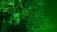 Abstract electronic circuits loop. Green. video