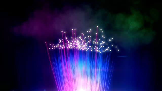 Abstract fiber optics background loop video