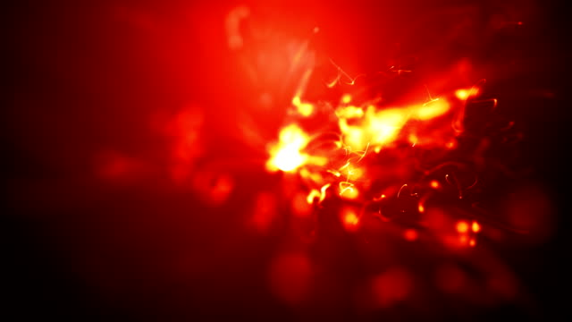 abstract fire animation video