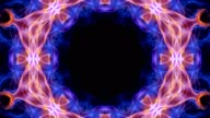 Abstract Flower Kaleidoscope Technology Animation, Background, Rendering, Loop video