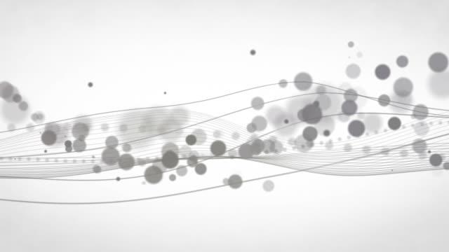 Abstract Flowing Waves Background Loop - Grey (HD) video