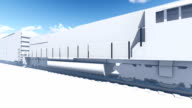 Abstract freight train 3D animation video