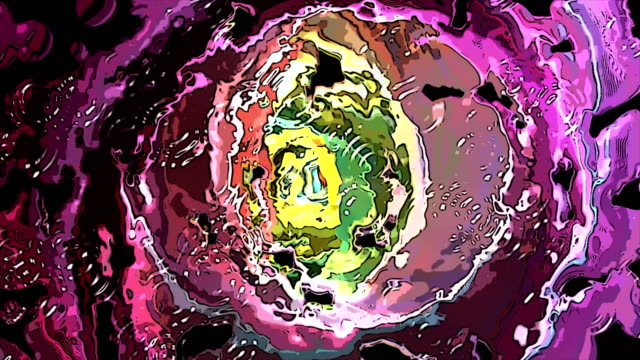 abstract futuristic animated cartoon tunnel video