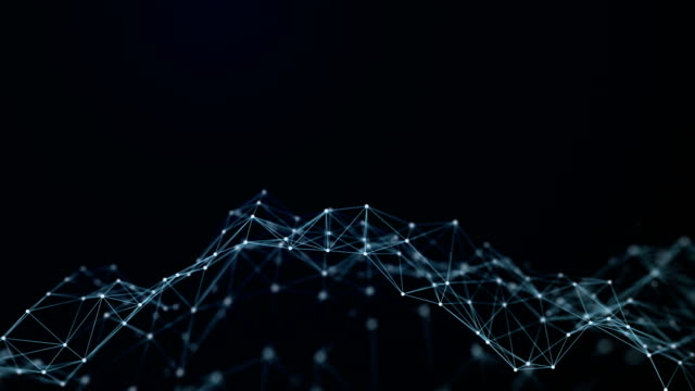 Abstract Futuristic Data Connections Background, Technology Concept video