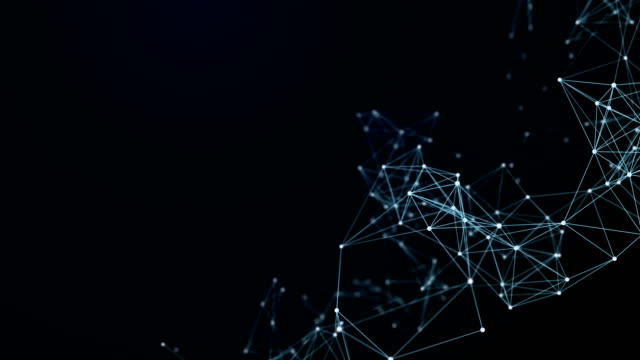 Abstract Futuristic Data Connections Background, Technology Concept Background video