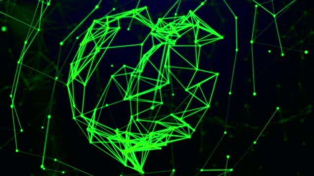 Abstract Futuristic Data Network in Cyber Space, Technology Concept video