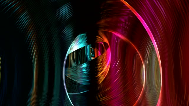 abstract futuristic tunnel video