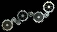 Abstract gearing wheels (HD, Loop/Cycle, Alpha) video