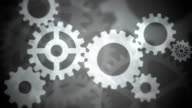 Abstract Gears Loopable black and white video