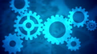 Abstract Gears Loopable blue video