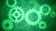 Abstract Gears Loopable green video