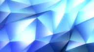 abstract geometric background blue video