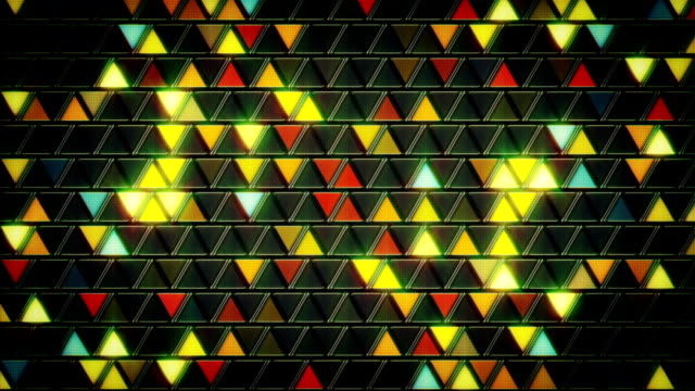 abstract geometric background shining triangles loop video