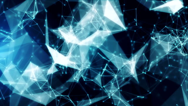 Abstract geometric background video
