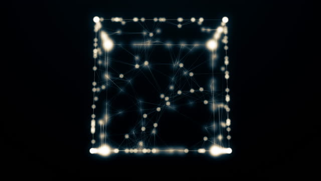 Abstract geometric composition, slow moving dots and lines video