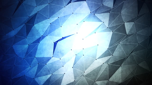 Abstract geometric triangle background. Seamless Loop. video