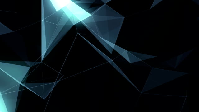 Abstract Geometric Triangles Background glow video