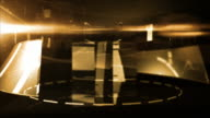Abstract Glass Background Loop - Midnight Gold (Full HD) video