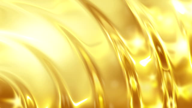Abstract Glass effect Background gold video