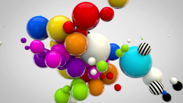 Abstract Glossy Balls Background - MultiColoured on greyha) video