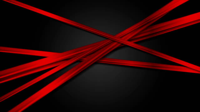 Abstract glossy red stripes on black background video animation video
