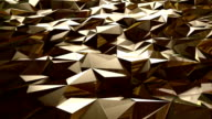 Abstract golden triangle background video