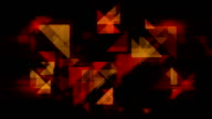 Abstract golden triangles loopable background footage video