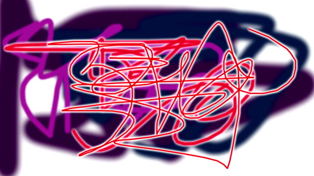 Abstract graffiti scribble background. video