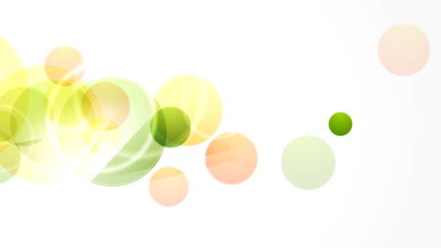 Abstract green and orange circles video animation video