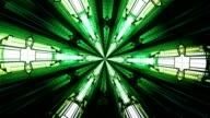 Abstract green kaleidoscope. Seamless loop video